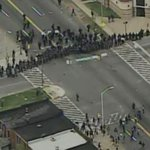 WATCH LIVE: Protesters and police clash in Baltimore http://t.co/p7329Shn0T http://t.co/q2ej2HmVuG