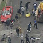 #BREAKING: Officers injured during #FreddieGray protests. Police heading to Mondawmin Mall. http://t.co/S1dXtwQppa http://t.co/g7EwkKbO5Y