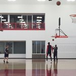 Prepping for tonight's Game 5, @TonySnell20 gets shots up at the Advocate Center. #SeeRed http://t.co/zU6kHHiAn2