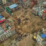 Drone video captures devastation in Kathmandu after #NepalEarthquake http://t.co/ZgibMMf7h0 http://t.co/UAcaXmCmI1
