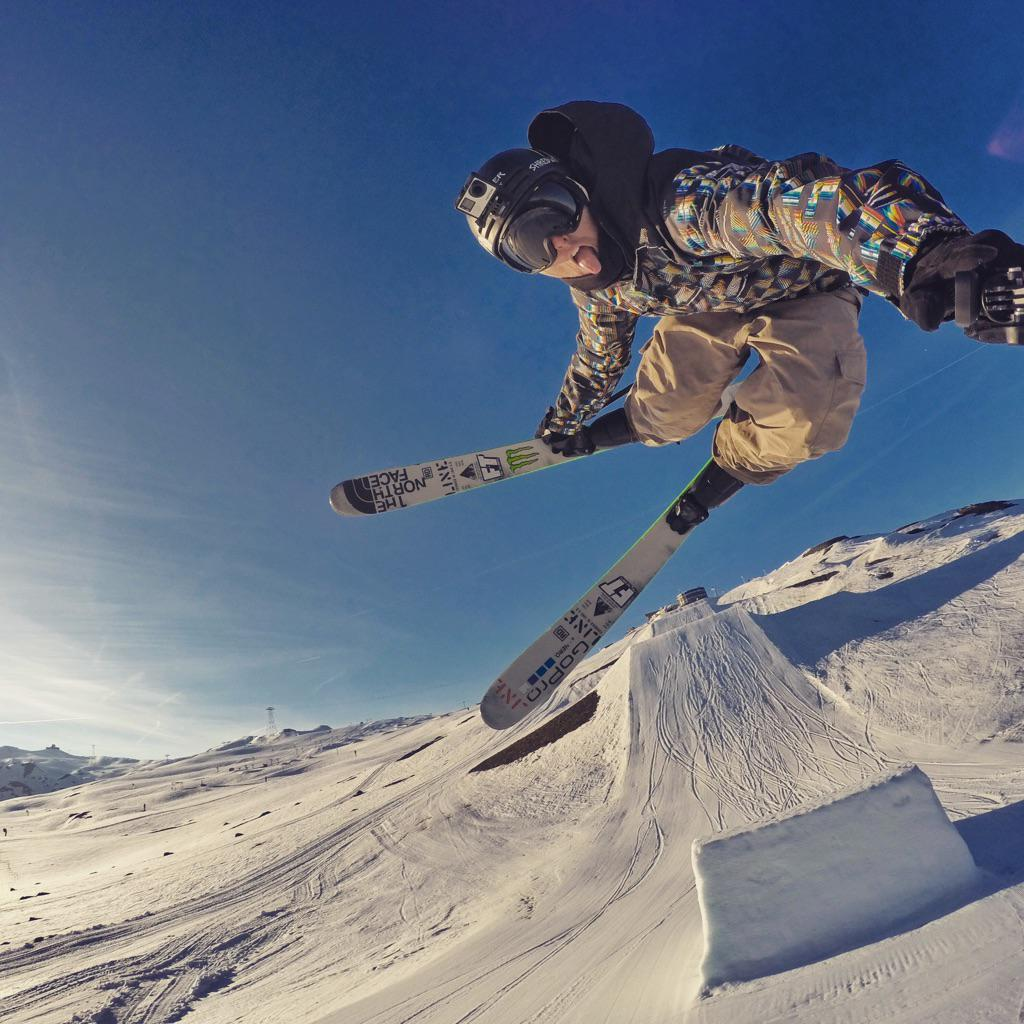 Sun's out, tongue's out!!! #gopro #goprosnow http://t.co/pp47jdY4j9