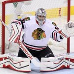 Corey Crawford is back as the #Blackhawks starting goaltender. @CEmma670 reports: http://t.co/WNybprxfGc http://t.co/HSptEoCPvm
