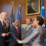 First-rate. Fair-minded. Independent & strong. Today, Loretta Lynch is our new Attorney General of the United States. http://t.co/GQBDDRCuaF