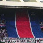 Tifo du maillot géant lors de PSG-Metz... Le PARC avant.... http://t.co/W6jXiaoRS8