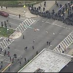 WATCH LIVE: #Baltimore police clash with protesters near Mondawmin Mall. http://t.co/NH9YoF1kSJ http://t.co/JSzwR7zmQZ