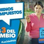 PAN propone bajar los impuestos para que pagues menos y ahorres más, es lo justo ¿A poco no? #Las3DelPAN http://t.co/LchceZRMiQ