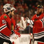 Corey Crawford to start for #Blackhawks in Game 1; Kris Versteeg demoted, via @ChristopherHine http://t.co/p1ntFHjgtQ http://t.co/KnavOIbJAr