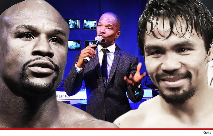 Breaking: Jamie Foxx is singing the National Anthem at the Mayweather vs. Pacquiao fight!
