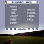 Confirmation of #BWFCs starting XI and substitutes for tonights clash with @afcbournemouth. #BOUvBOL http://t.co/J9np2hURKI