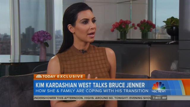 Kim Kardashian: the Kardashians are behind Bruce Jenner 100%