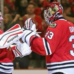Co-rey! Co-rey! Crawford will start Game 1 for Blackhawks vs. Wild. http://t.co/3Tu9IzuC6Z http://t.co/T5xtbD2pmQ