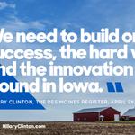 Read Hillarys thank you note to Iowa: http://t.co/kCFoGLXqho http://t.co/0XMT89VAz3