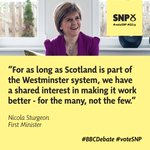 If the SNP is given influence by the electorate we will seek to use that influence positively and constructively http://t.co/gb0h9aTjFv