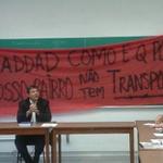 #SP: Grupo invade aula de Haddad na USP para pedir ônibus no extremo sul; veja vídeo http://t.co/6zSAzK89Ye http://t.co/kK6Fc5lUCH