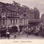 #London, Victoria Railway Station 1910s http://t.co/BPW1phyJy7