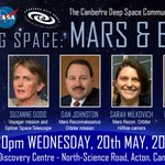 FREE NASA MISSION TALK: May 20th in Canberra - Exploring Space: Mars and Beyond. Free tickets http://t.co/R5YUA1ZkVc http://t.co/iAXXZf0dfq