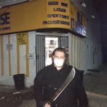 @rafsanchez: We just met Brian, who is defending a liquor store on his own with a machete amid the riots #baltimore http://t.co/6MZhJc8geC