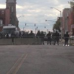 Western District Station. Barricaded with riot police. http://t.co/7GRlxtGrG5