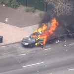Chaos. RT @MashableNews: MTA police car on fire in Baltimore. #FreddieGray http://t.co/Auig3by2qv