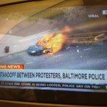 Flaming @BaltimorePolice car on @CNN right now: http://t.co/dtsJC3OEmz