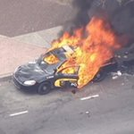 BREAKING: Maryland Transit Admin. police car on fire in Baltimore riots; looting reported: http://t.co/Lq15Onw0r3 http://t.co/t2kwWGWYQ3