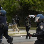 Police clashed with rock-throwing teenagers in Baltimore, near the funeral of Freddie Gray http://t.co/BagpbOkDXT http://t.co/OxcRSqPkHt