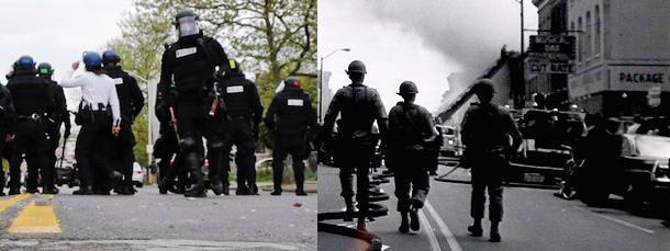 Baltimore 1968 and Baltimore today. #BaltimoreRiots http://t.co/PGHnDcCHNK