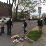 """SE of mall. Woman stop kids from throwing rocks at police. Says """"we dont need another Freddie Gray!"""" http://t.co/jSGMGSxmJg"""