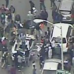 Protesters kick and smash a police car as violence erupts in Baltimore. http://t.co/imG0syjJRc http://t.co/7yvkreebOS