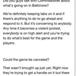 Heres what Robin Ventura had to say about whats going on in relation to tonights game and unrest in Baltimore. http://t.co/Ng34WUHPZN