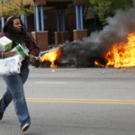 The things they carried: These two grabbed toilet paper, napkins, diapers amid looting #FreddieGray #BaltimoreRiots http://t.co/LhlWAvt5E5