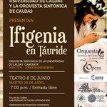 Mañana, ópera en Manizales. http://t.co/ZVdkJNbvnH