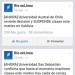 No hay clases :) #valdiviacl http://t.co/l8ZCc1Xnim