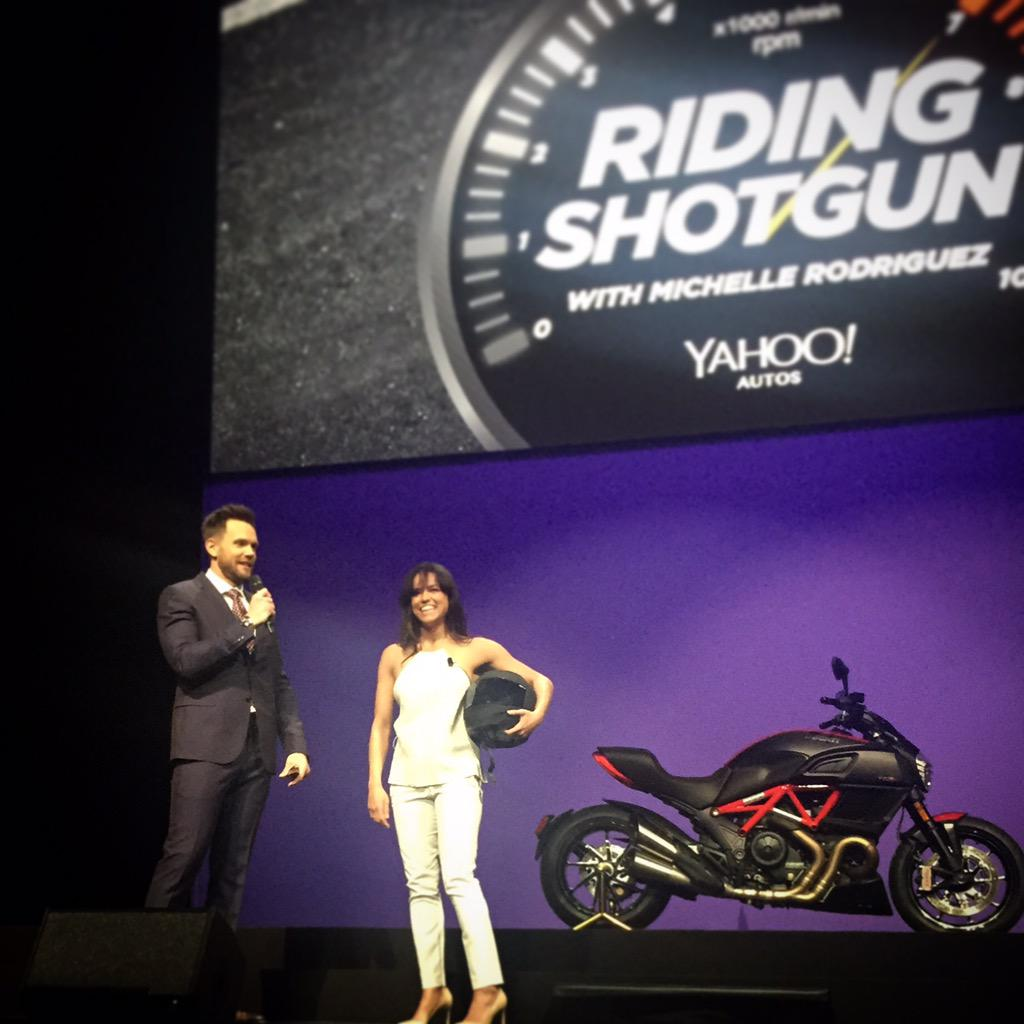 .@MRodOfficial wants you #RidingShotgun on her new automotive @Yahoo show.  #YahooNewFront http://t.co/rv4WhO7BJy