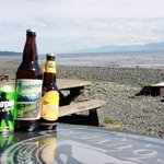 # BeachLife in Jordan River. Think I might stay for a while @VanIsleBrewery. #craftbeer #yyj http://t.co/OlDippGmHL