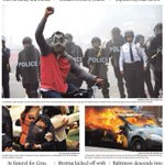 Tuesdays front page: RIOTS ERUPT. (Full coverage on http://t.co/dfsAzpiToO) http://t.co/tE4xgqVAJE