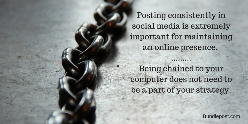 Being chained to your computer shouldn't be a part of your #SocialMedia #Strategy http://t.co/se4hwnPbHy http://t.co/IqIWRVwvJJ