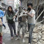 The shocking images of the earthquake in Nepal http://t.co/UQDDAFuvMh #EarthquakeNepal http://t.co/gYFzIXV6O2