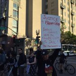 """All night, all day, we shut it down for #FreddieGray!"" protesters headed up Broadway in #Oakland. http://t.co/XivxWe2WCX"