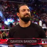 .@TheDamienSandow is LIVE on @WWE #RAW, looking more like himself! #RAW #NoMoreMizdow http://t.co/ta85HeuDRG