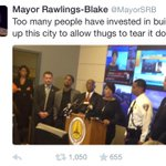 Thugs, says Baltimores @MayorSRB. Thugs. http://t.co/GDZNpEupct