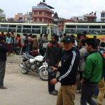 Buses leaving from Tilganga bridge, near Kathmandu International airport for Gorakhpur @MEAIndia http://t.co/QJxHcPjFsf