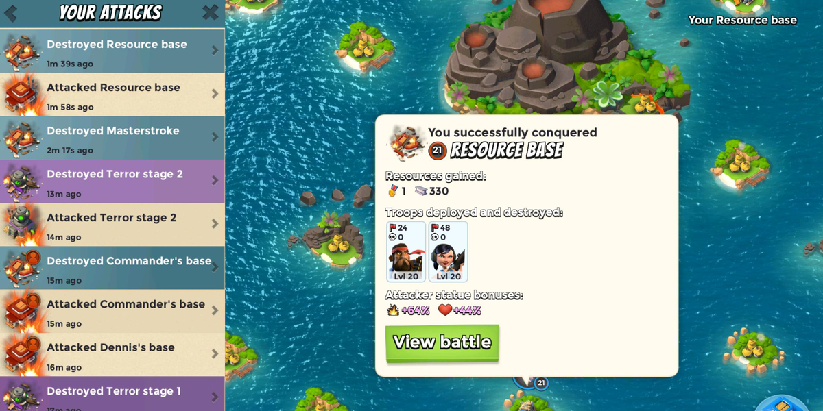 "Boom Beach on Twitter: ""Coming next update... Activity Log ..."