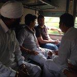 Rahul Gandhi onboard Sachkhand Express,will visit Sirhind, Gobindgarh and Khanna Mandis of Punjab #RGPunjabVisit http://t.co/uJociOME8z