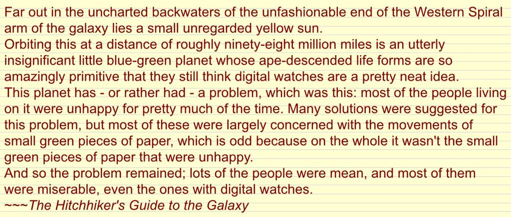 I think Douglas Adams was warning us about the Apple Watch. http://t.co/lfvJab4iTT