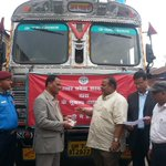 10 trucks of food,7 trucks of water,1 truck of medicines handed over to Nepals Home Sec by @UPGovt  #NepalEarthquake http://t.co/MBzSWIk9Ga