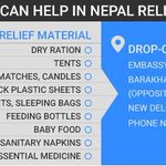 Want to contribute to Nepal Relief Effort? Here is the list of urgent relief material required. #NepalEarthquake http://t.co/B5lBsc4czP
