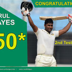 #BANvPAK 1st Test Day 1: Imrul Kayes brought up his 2nd Test fifty before getting out the next ball! http://t.co/bJHCMJLcmx