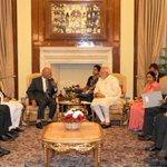 PM Shri @narendramodi meeting President of Afghanistan Dr. Mohammad @ashrafghani at Hyderabad House, in New Delhi. http://t.co/34yAGyDafi