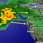 Heres the rain as it is moving in... heavy rain ahead. #tampaweather @abcactionnews @tampabaytraffic http://t.co/rLR78zg1GO